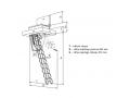 Protipožarne zložljive stopnice Kombo PP (90 x 70 cm)