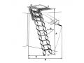 Protipožarne zložljive stopnice Lusso PP (110 x 60 cm)