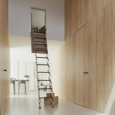 Zložljive stopnice Verticale  (90/100/110/120 x 70 cm)