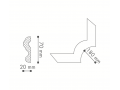 Štukatura NOMASTYL N24- kotnik  (70 x 20 mm)