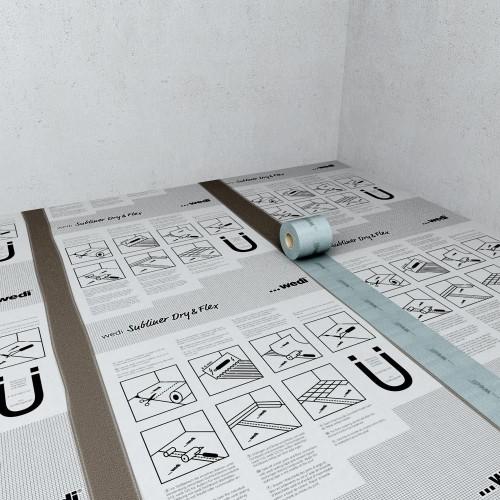 tesnilni trak wedi subliner dry flex. Black Bedroom Furniture Sets. Home Design Ideas